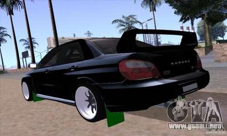Subaru Impresa WRX light tuning para GTA San Andreas left