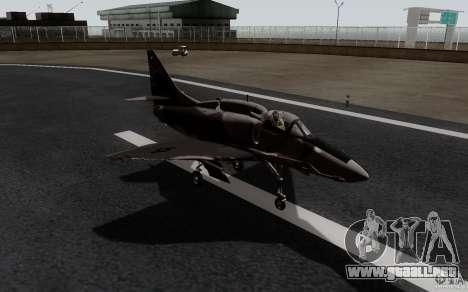 McDonnell Douglas A-4AR Fightinghawk para GTA San Andreas vista posterior izquierda