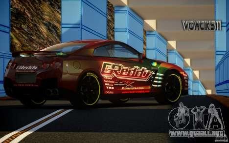 Nissan GT-R Black Edition GReddy para GTA 4 left
