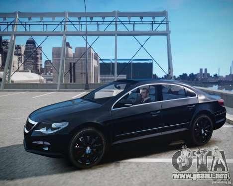 Volkswagen Passat CC para GTA 4 vista hacia atrás