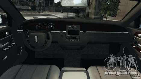 Lincoln Town Car 2006 v1.0 para GTA 4 vista hacia atrás