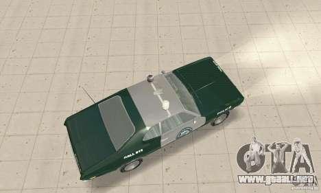 Plymouth Duster 340 Police para GTA San Andreas vista posterior izquierda