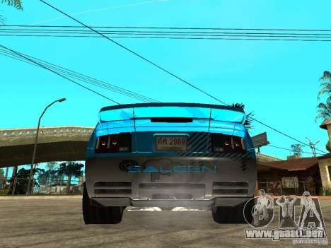 Ford Mustang Drag King para GTA San Andreas left