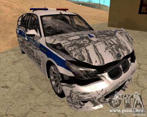 BMW M5 E60 DPS para GTA San Andreas interior