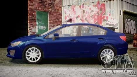 Subaru Impreza Sedan 2012 para GTA 4 left
