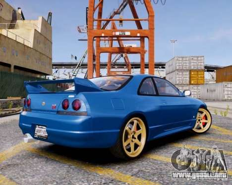 Nissan Skyline R33 GTR V-Spec para GTA 4 left