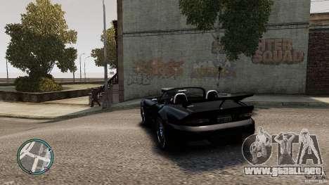 Blue Neon Banshee para GTA 4 Vista posterior izquierda