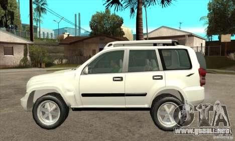 Jeep Liberty 2007 para GTA San Andreas left