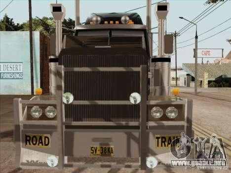Western Star 4900 Aust para visión interna GTA San Andreas