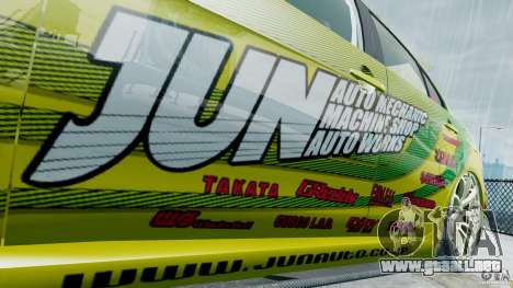 Mitsubishi Lancer X JUN para GTA 4 vista hacia atrás