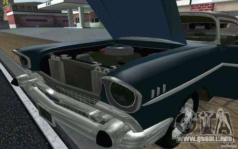 Chevrolet Bel Air 1957 para visión interna GTA San Andreas