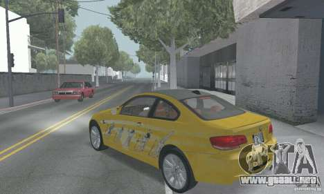 BMW M3 E92 Stock para GTA San Andreas interior