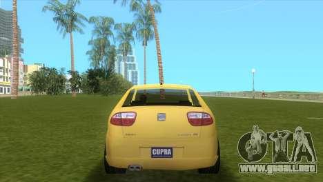 Seat Leon Cupra R para GTA Vice City visión correcta