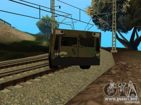 Hummer H2 Army para GTA San Andreas left