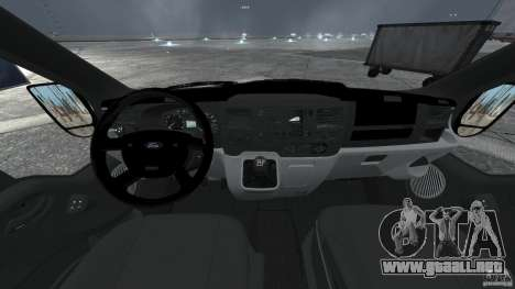 Ford Transit Joen Loka [ELS] para GTA 4 vista hacia atrás