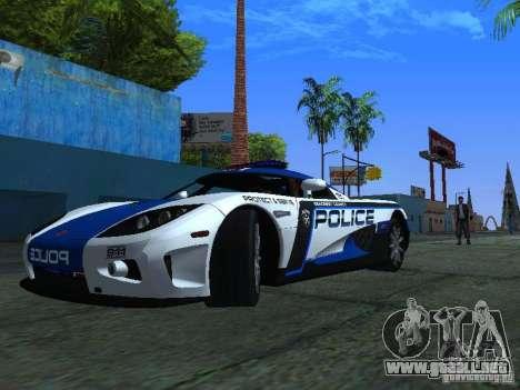 Koenigsegg CCX Police para GTA San Andreas left
