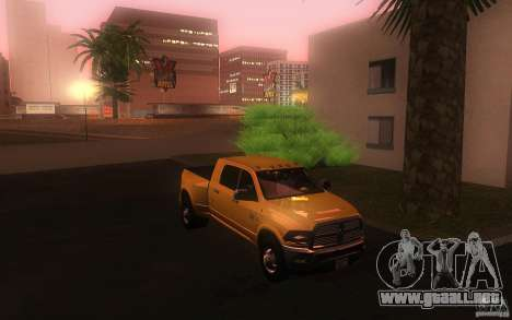 Dodge Ram 3500 Laramie 2010 para GTA San Andreas vista hacia atrás