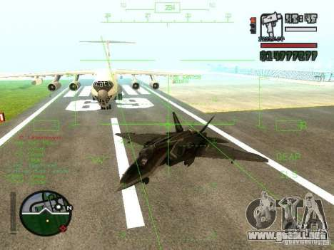 Xa-20 razorback para GTA San Andreas vista posterior izquierda