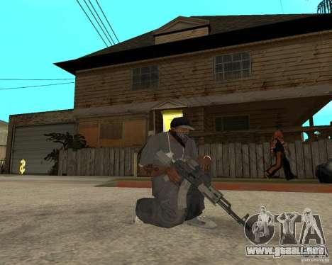 AK47 con el visor óptico estándar para GTA San Andreas segunda pantalla