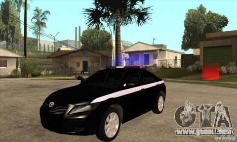Toyota Camry 2010 SE Police RUS para GTA San Andreas