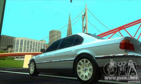 BMW 750i E38 para GTA San Andreas left