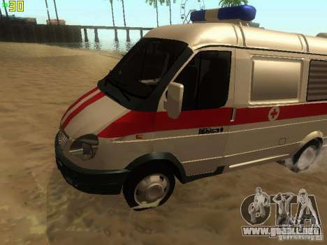 Gacela 32214 ambulancia para GTA San Andreas left
