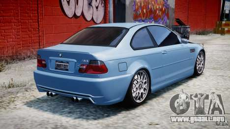 BMW M3 E46 Tuning 2001 para GTA 4 vista superior