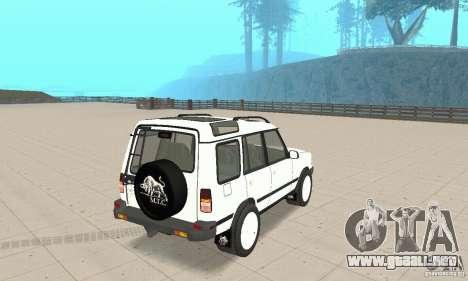 Land Rover Discovery 2 para GTA San Andreas left
