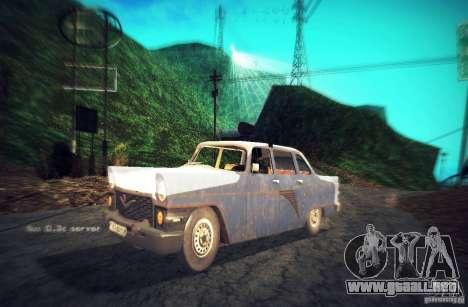 Policía de gas 13 Cuba para GTA San Andreas vista hacia atrás