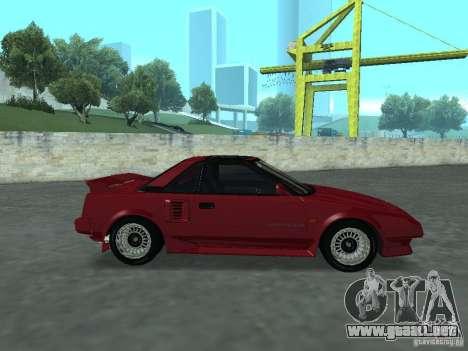 Toyota MR2 para GTA San Andreas vista posterior izquierda