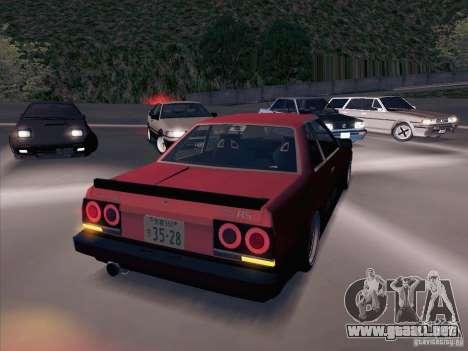 Nissan Skyline RS TURBO (R30) para GTA San Andreas vista hacia atrás