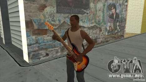Canciones de la película en la guitarra para GTA San Andreas décimo de pantalla