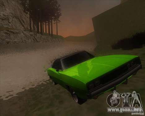 Dodge Charger RT 1968 para GTA San Andreas vista hacia atrás