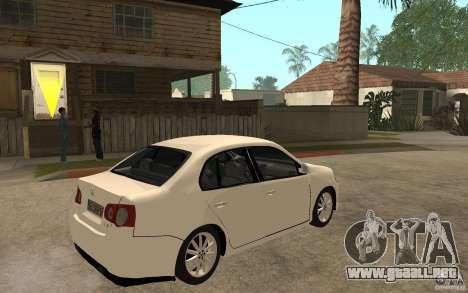 Volkswagen Jetta 2008 para la visión correcta GTA San Andreas