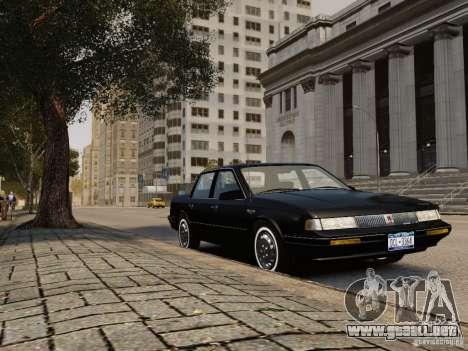 Oldsmobile Cutlass Ciera 1993 para GTA 4 Vista posterior izquierda