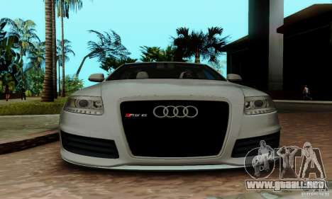 Audi RS6 2009 para la vista superior GTA San Andreas