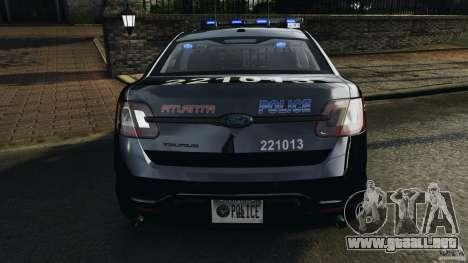 Ford Taurus 2010 Atlanta Police [ELS] para GTA 4 interior