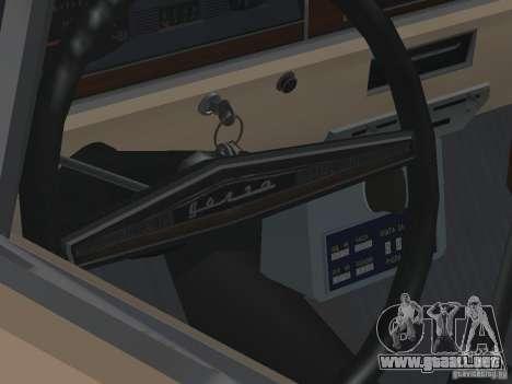 Taxi Volga GAZ-24 02 para visión interna GTA San Andreas