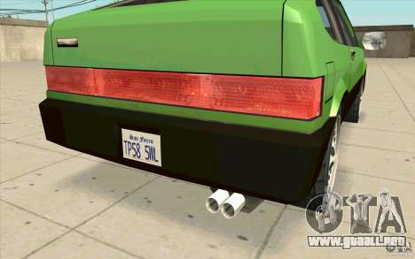 Mad Drivers New Tuning Parts para GTA San Andreas sexta pantalla