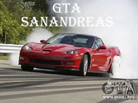 Pantallas de carga Chevrolet Corvette para GTA San Andreas sucesivamente de pantalla