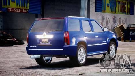 Cadillac Escalade [Beta] para GTA 4 vista superior
