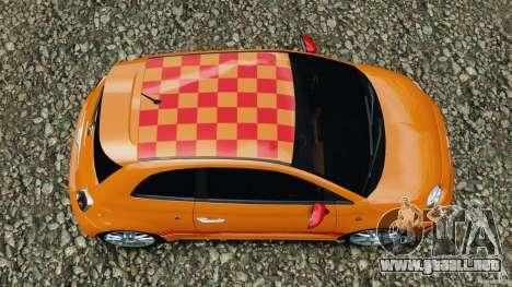 Fiat 500 Abarth para GTA 4 visión correcta