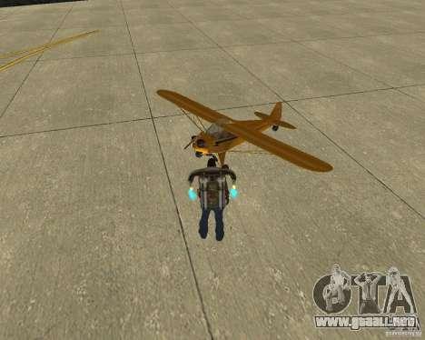 Transporte aéreo Pak para GTA San Andreas vista posterior izquierda