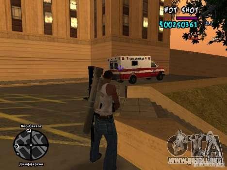 HUD by Hot Shot para GTA San Andreas sucesivamente de pantalla