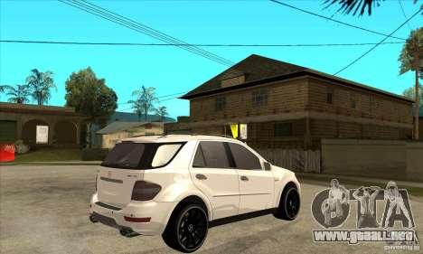 Mercedes-Benz ML 63 para la visión correcta GTA San Andreas