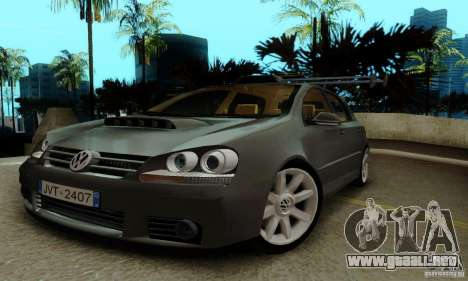 Volkswagen Golf 5 TDI para la visión correcta GTA San Andreas