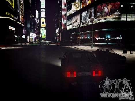 VAZ 21093i para GTA 4 vista hacia atrás