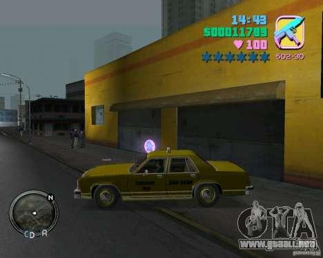 Ford Crown Victoria LTD 1985 Taxi para GTA Vice City vista lateral izquierdo