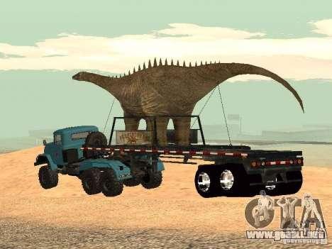 Dinosaurio Trailer para GTA San Andreas