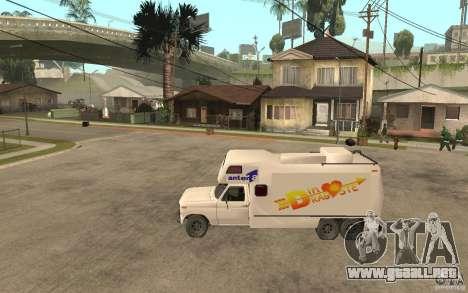 Ford F150 Carvana Dragostei para GTA San Andreas left